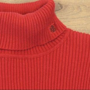 Ralph Lauren Turtleneck Long Sleeve Red
